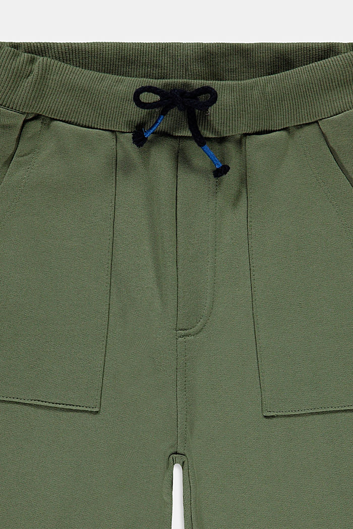 Tracksuit bottoms in 100% cotton, DARK KHAKI, detail image number 2