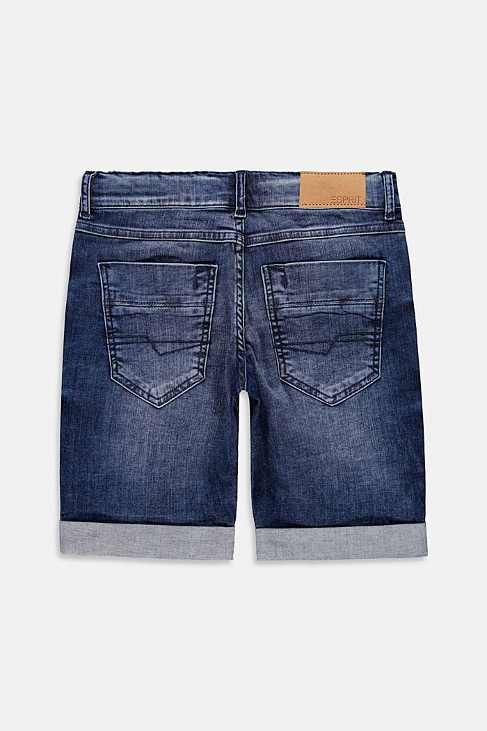 Shorts di jeans con cintura regolabile, BLUE DARK WASHED, detail image number 1