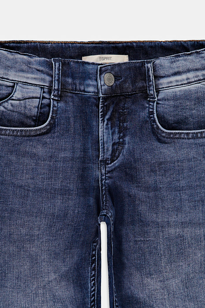 Shorts di jeans con cintura regolabile, BLUE DARK WASHED, detail image number 2