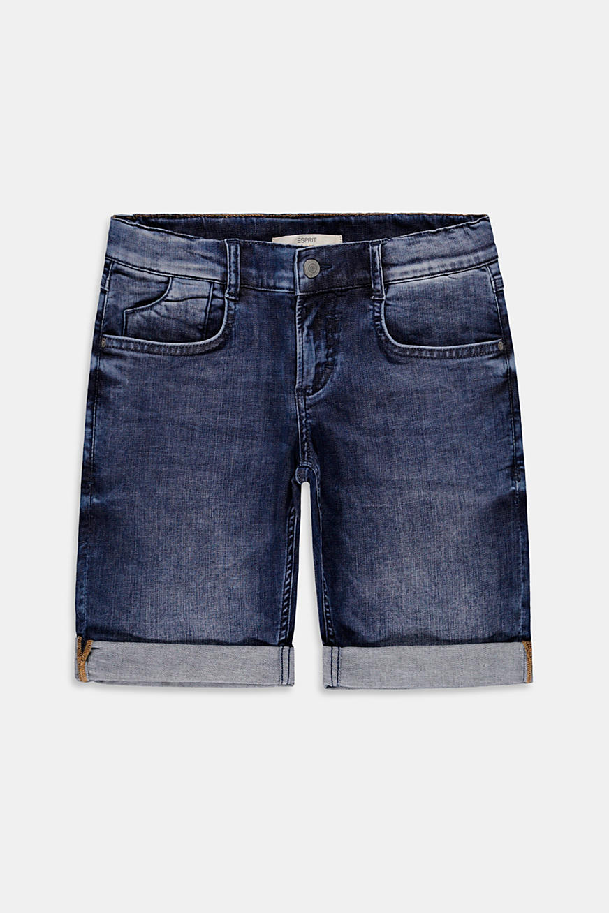 Denim short met verstelbare band