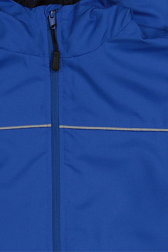 Functional rain jacket with a hood, TURQUOISE, detail image number 2