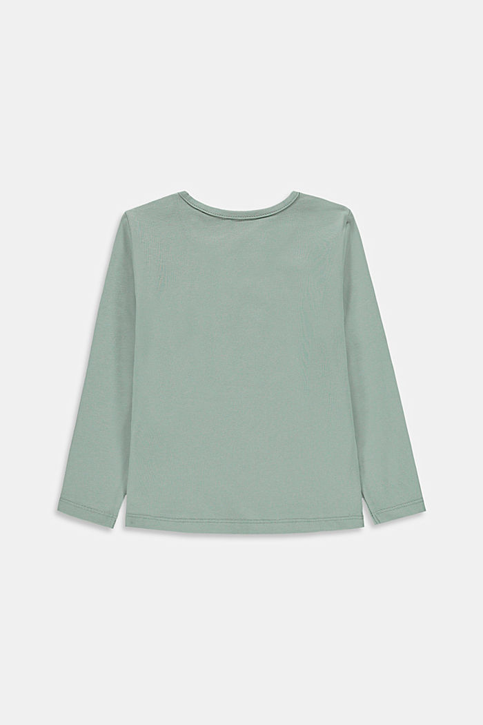 T-shirt à manches longues et imprimé, 100% coton