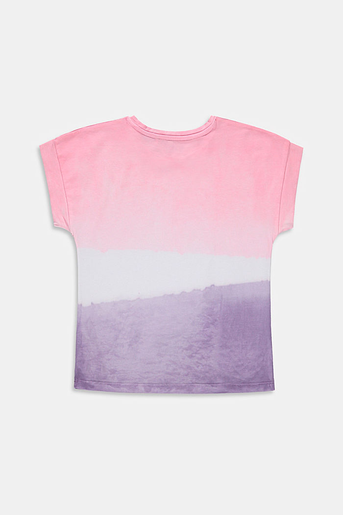 Oversized T-shirt in a dip-dye look, 100% cotton, LAVENDER, detail image number 1