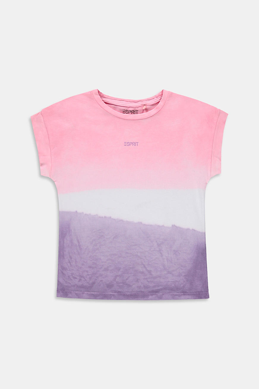 Oversized T-shirt i dip dye-look, 100% bomuld