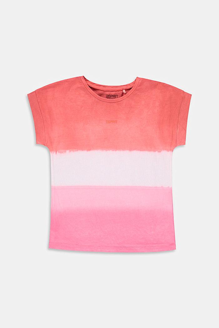 T-shirt oversize effetto sfumato, 100% cotone, BLUSH, detail image number 0