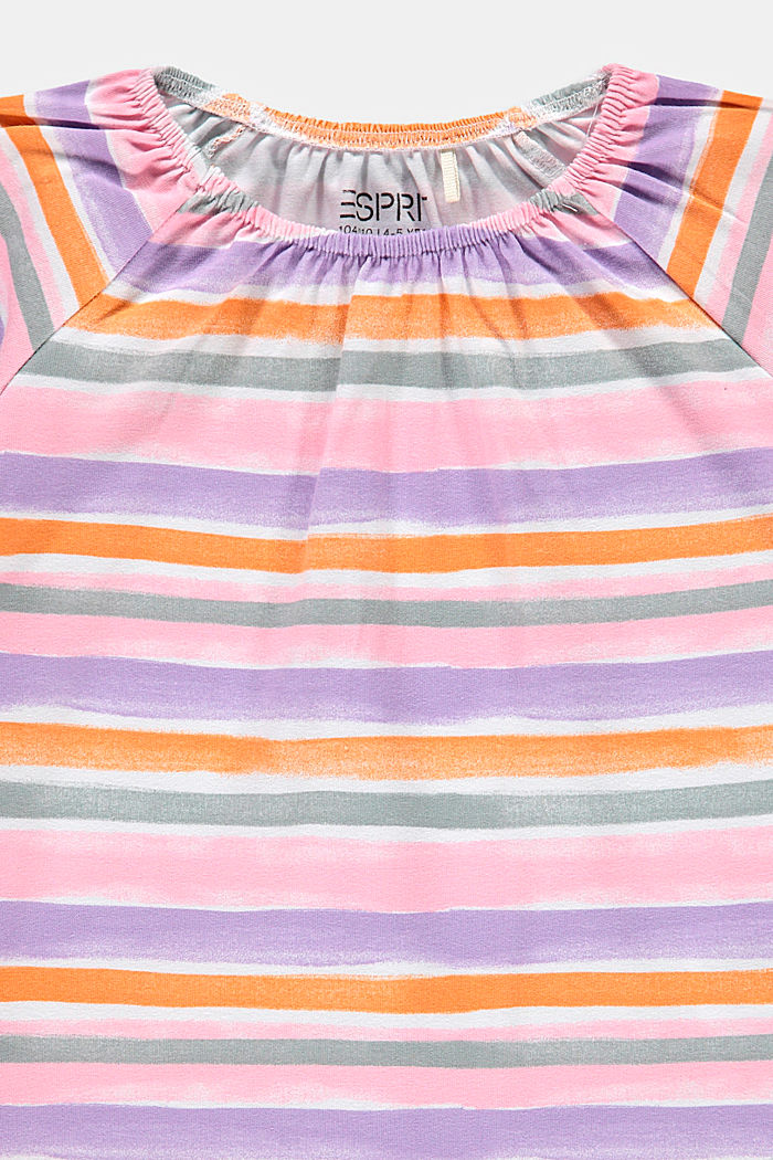 T-shirt with watercolour stripes, BLUSH, detail image number 2