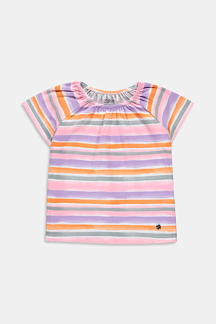T-shirt with watercolour stripes