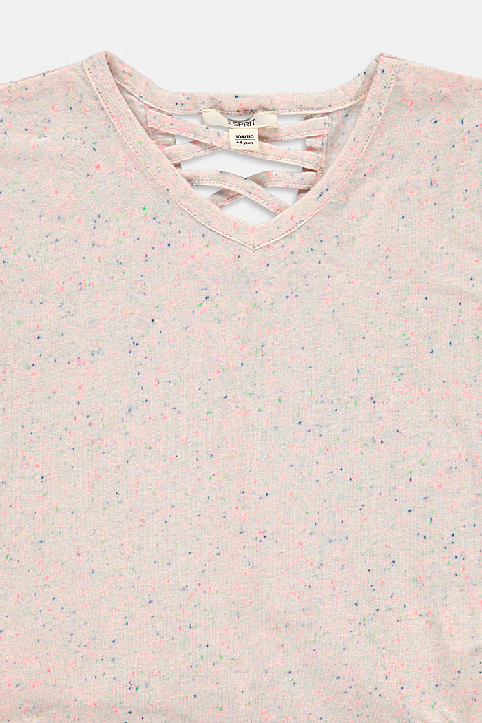 T-shirt with a colourful dimpled texture, LAVENDER, detail image number 2