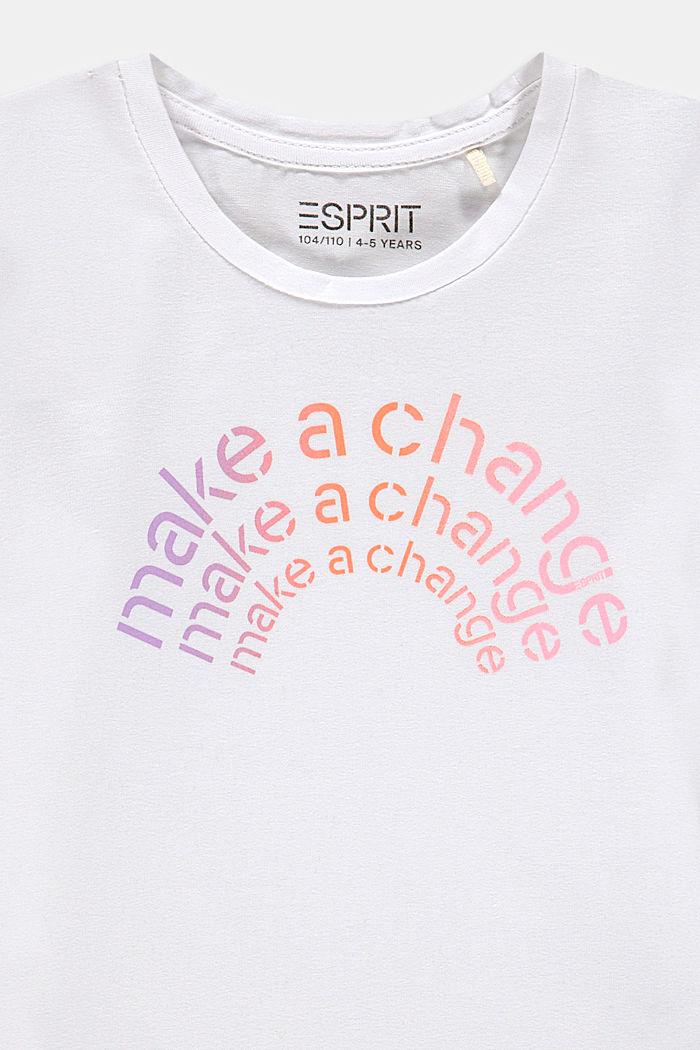 T-shirt met statementprint, WHITE, detail image number 2