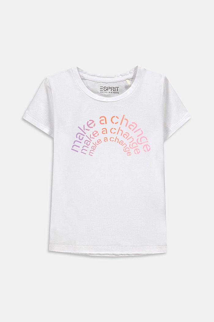 T-shirt met statementprint, WHITE, detail image number 0