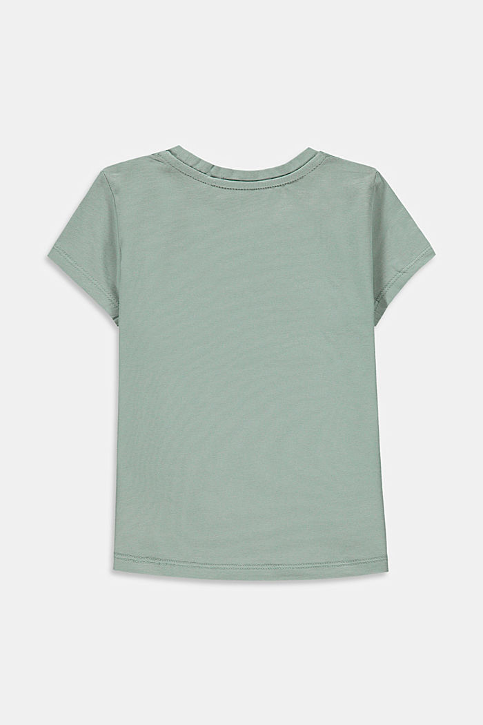 Statement print T-shirt, KHAKI GREEN, detail image number 1