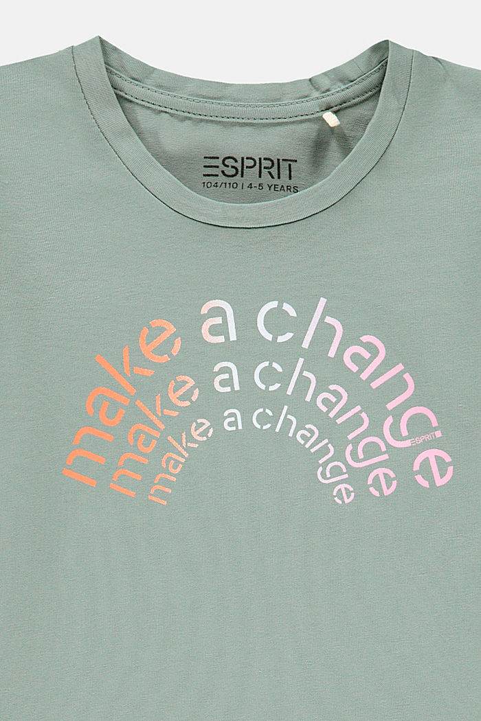 T-Shirt mit Statement-Print, KHAKI GREEN, detail image number 2