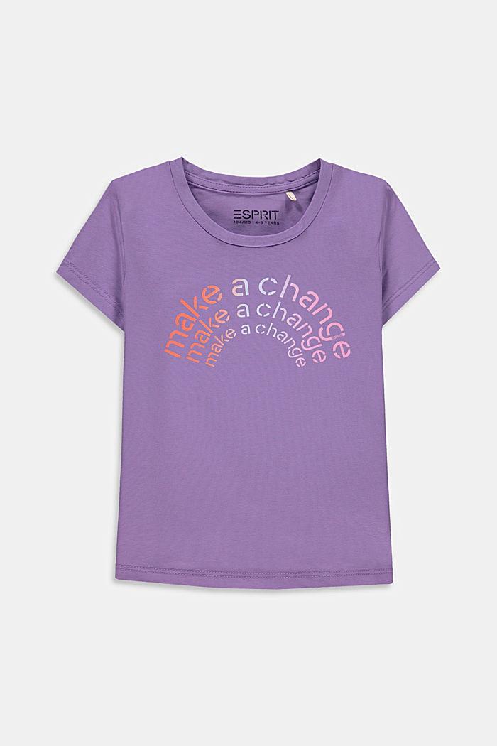 Statement print T-shirt, LAVENDER, detail image number 0