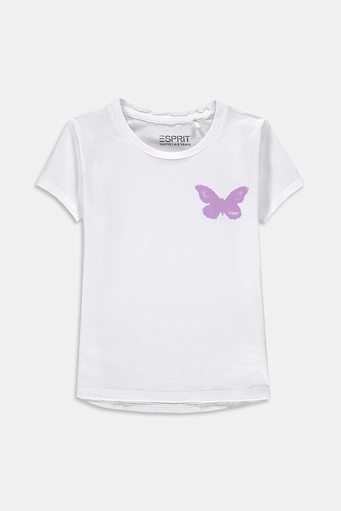 T-shirt with a butterfly print, WHITE, detail image number 0