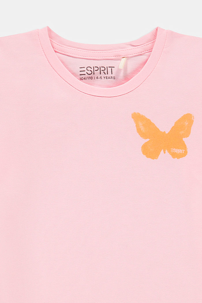 T-shirt with a butterfly print, BLUSH, detail image number 2