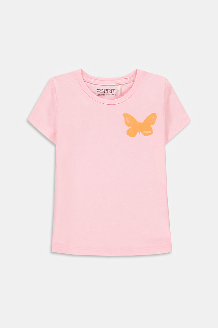 T-shirt with a butterfly print, BLUSH, detail image number 0