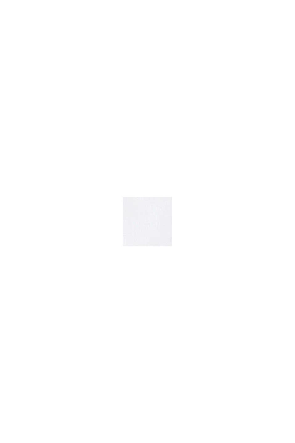 Camicetta svasata con bordatura, 100% cotone, WHITE, swatch