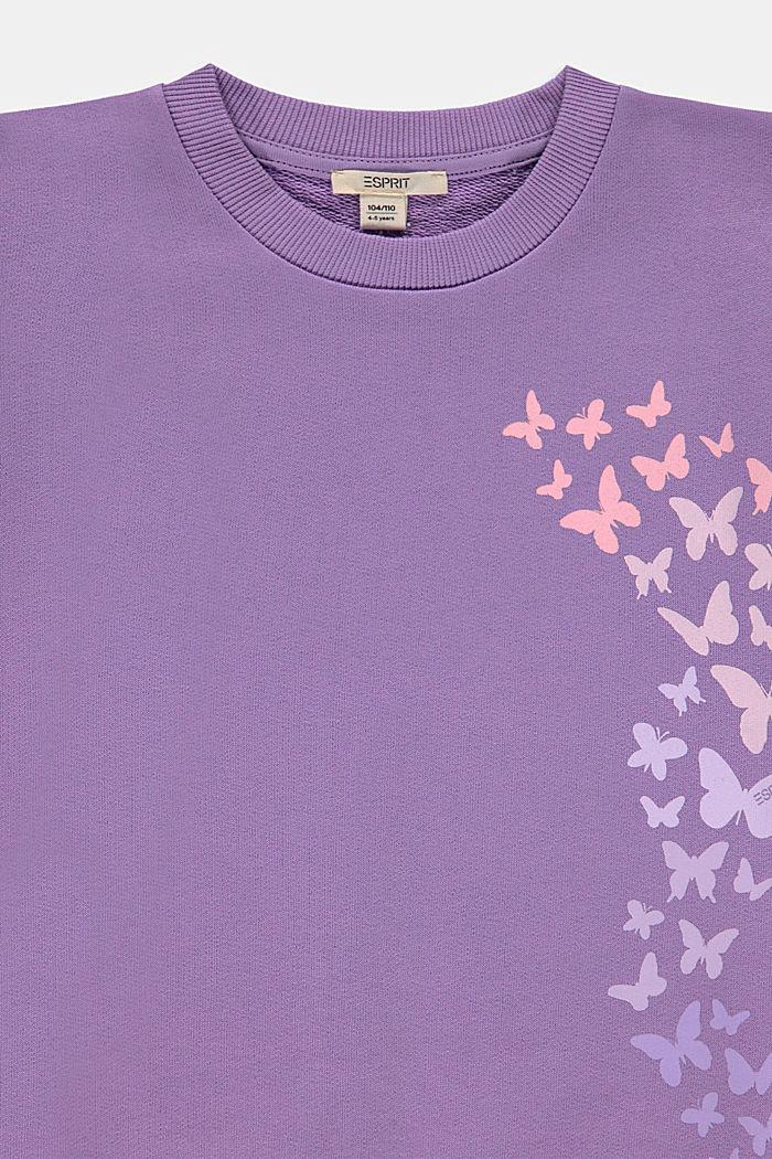 Sweat-shirt à imprimé papillon, LAVENDER, detail image number 2