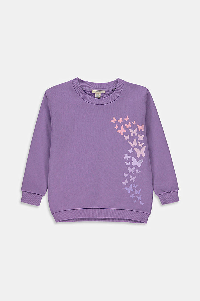 Sweatshirt mit Schmetterlings-Print
