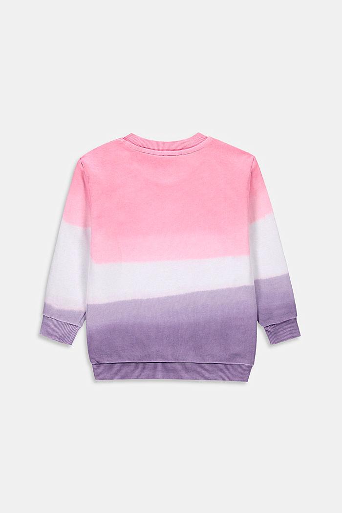 Sweat-shirt au look dip-dye, 100% coton