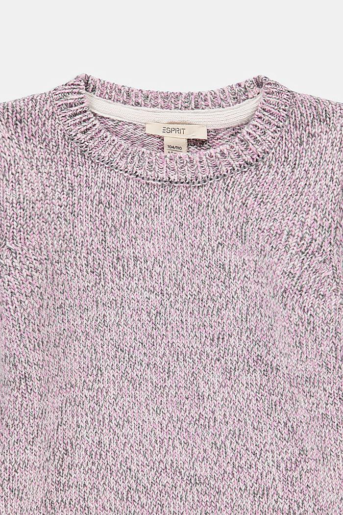 Melange jumper in 100% cotton, ROSE, detail image number 2