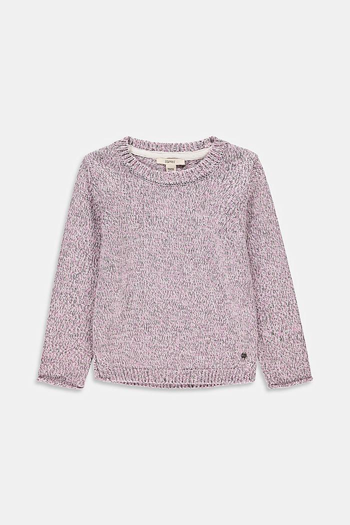 Melierter Pullover aus 100% Baumwolle