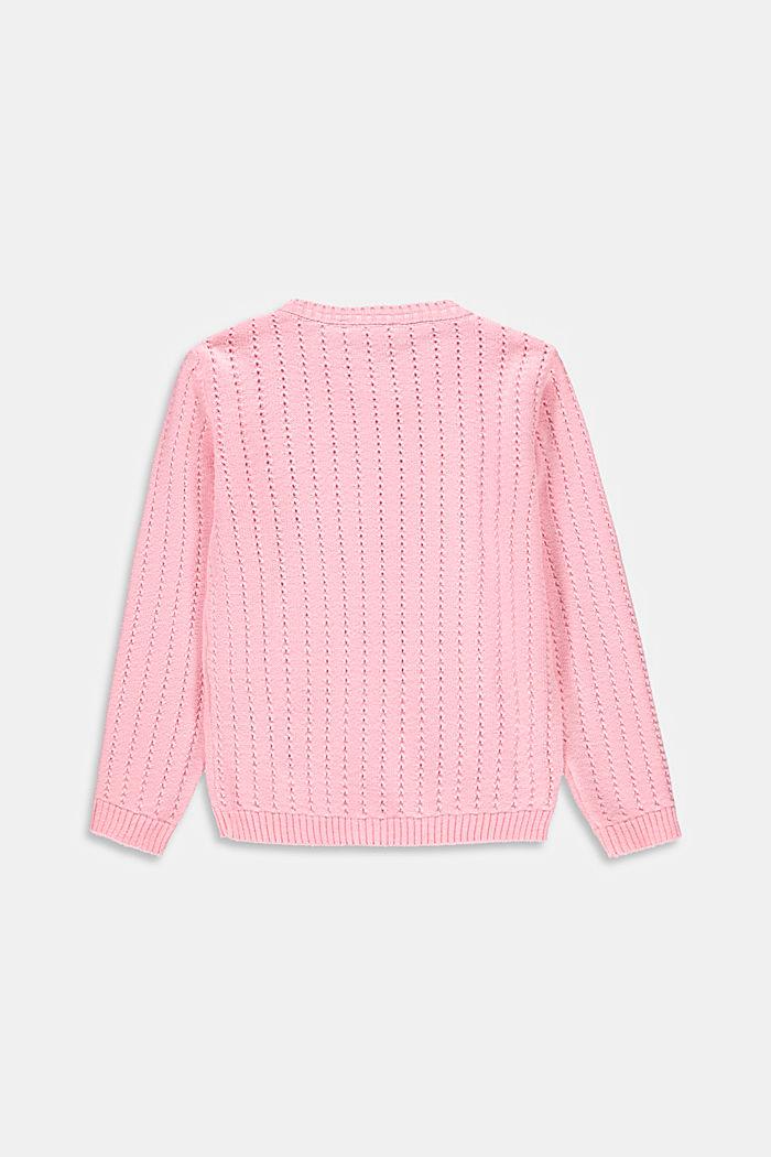 Ajour-Cardigan aus 100% Baumwolle