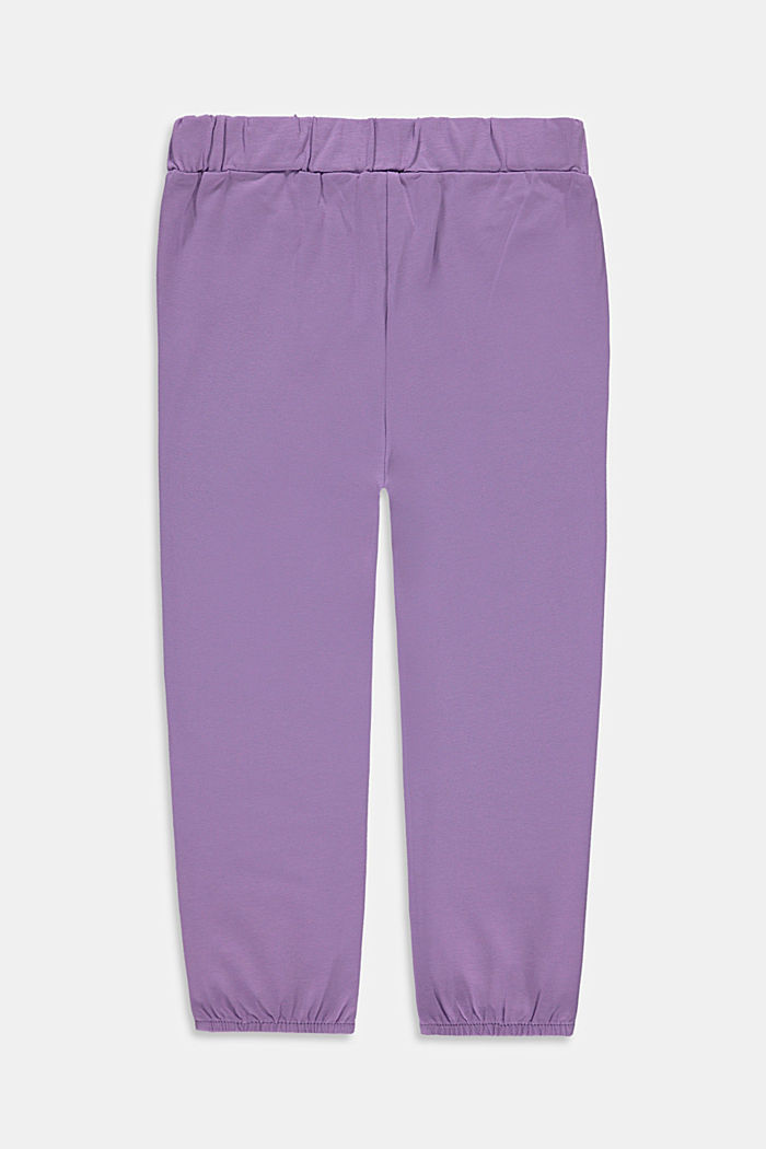 Jersey trousers in a tracksuit bottom style with a print, LAVENDER, detail image number 1