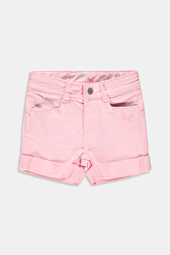 Printed shorts with an adjustable waistband
