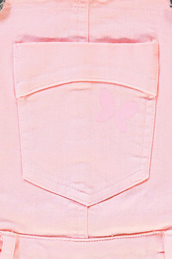 Barvené džínové šortky s laclem, BLUSH, detail image number 2