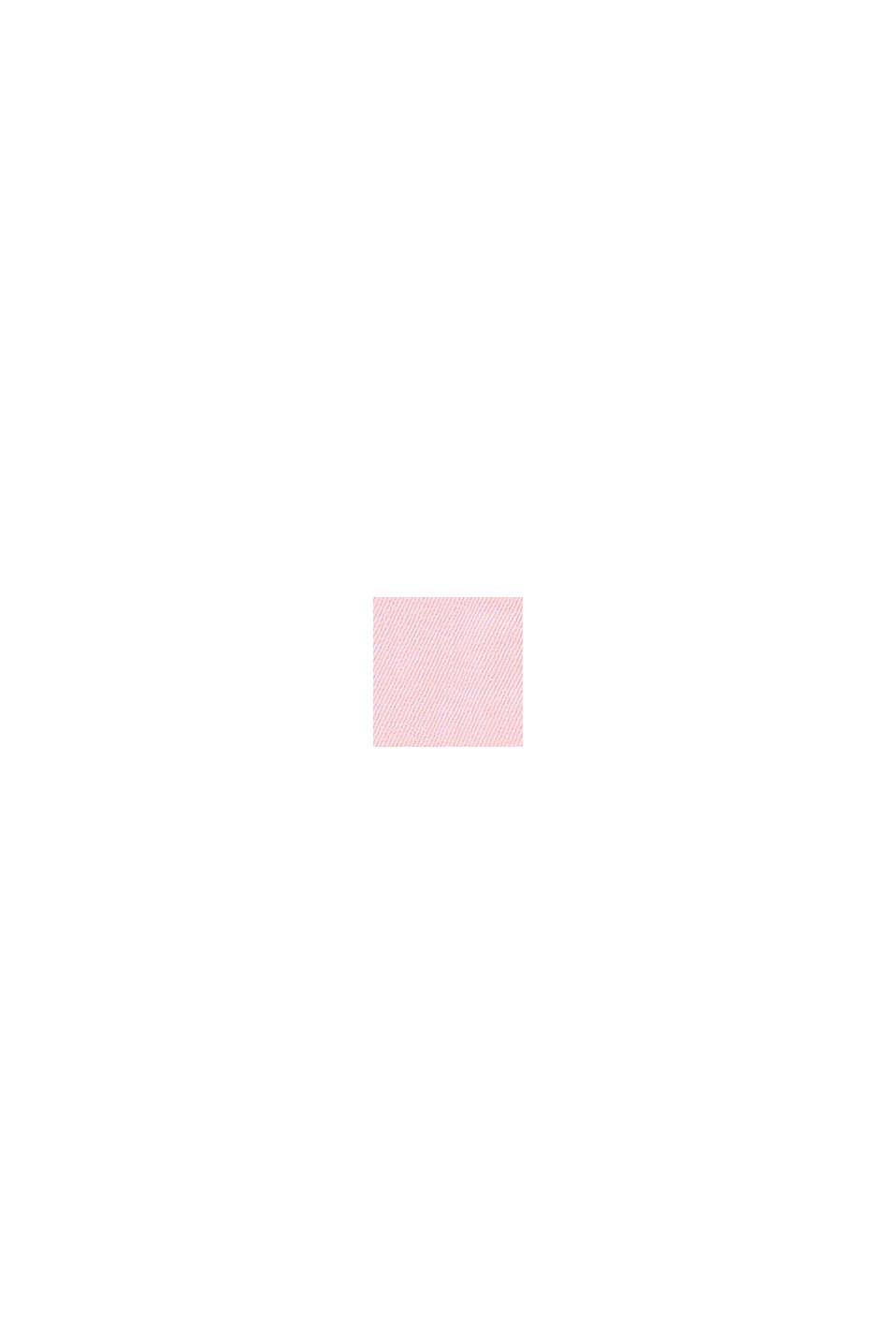 Korte tuinbroek van gekleurd denim, BLUSH, swatch