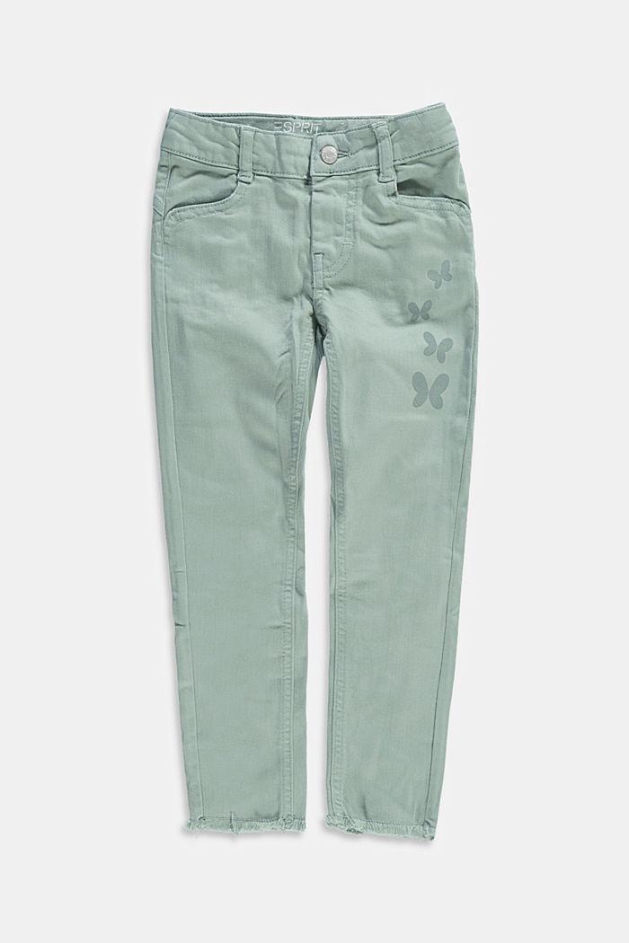 Pantalon à détails imprimés et extrémités à franges