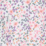 Robe en motif mille-fleurs dotée de poches, WHITE, swatch