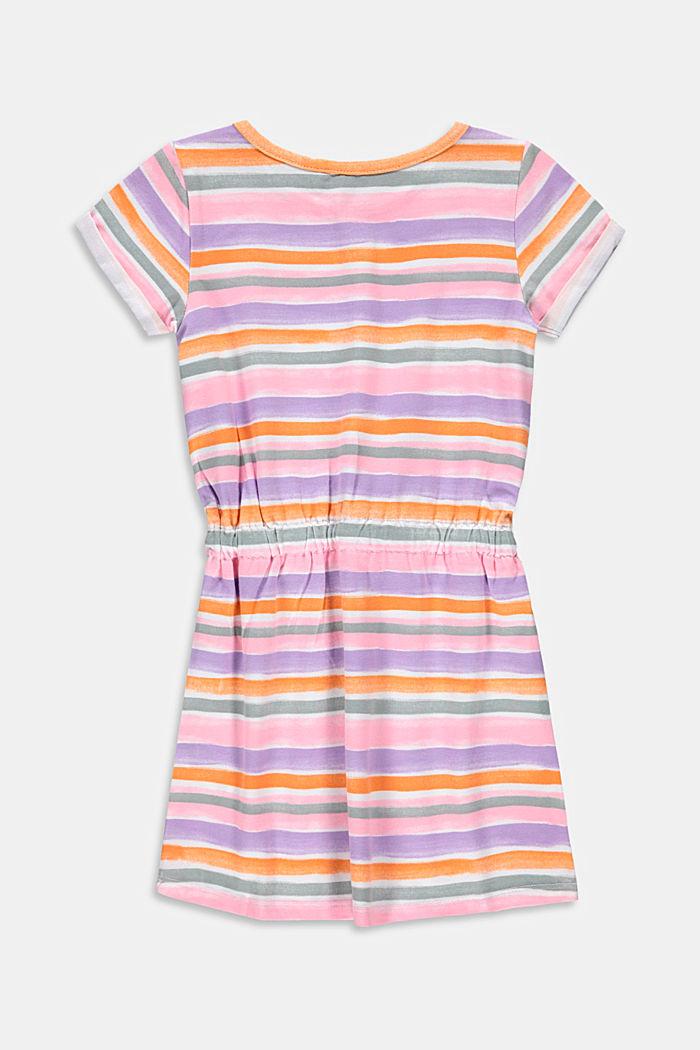 Jerseykleid mit Aquarell-Streifen