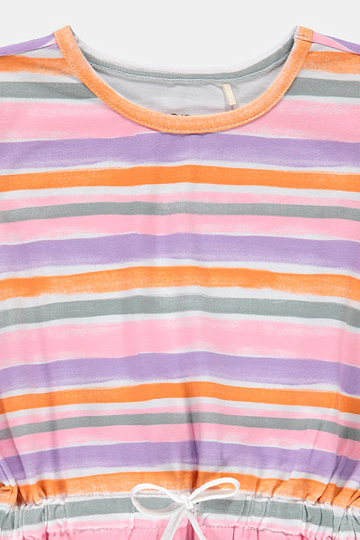 Jersey dress with watercolour stripes, BLUSH, detail image number 2