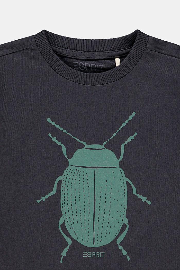 T-shirt met lieveheersbeestjesprint, 100% katoen, DARK GREY, detail image number 2