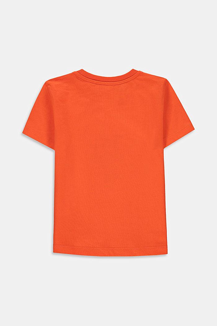 Camiseta con estampado de mariquitas, 100% algodón, RED ORANGE, detail image number 1