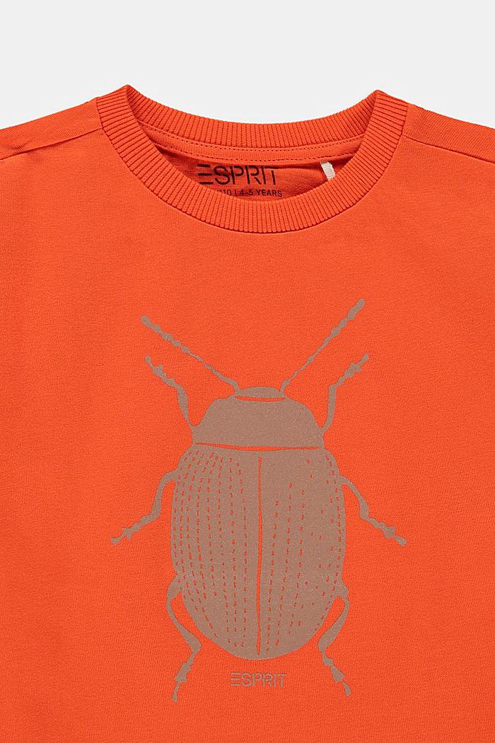 Camiseta con estampado de mariquitas, 100% algodón, RED ORANGE, detail image number 2