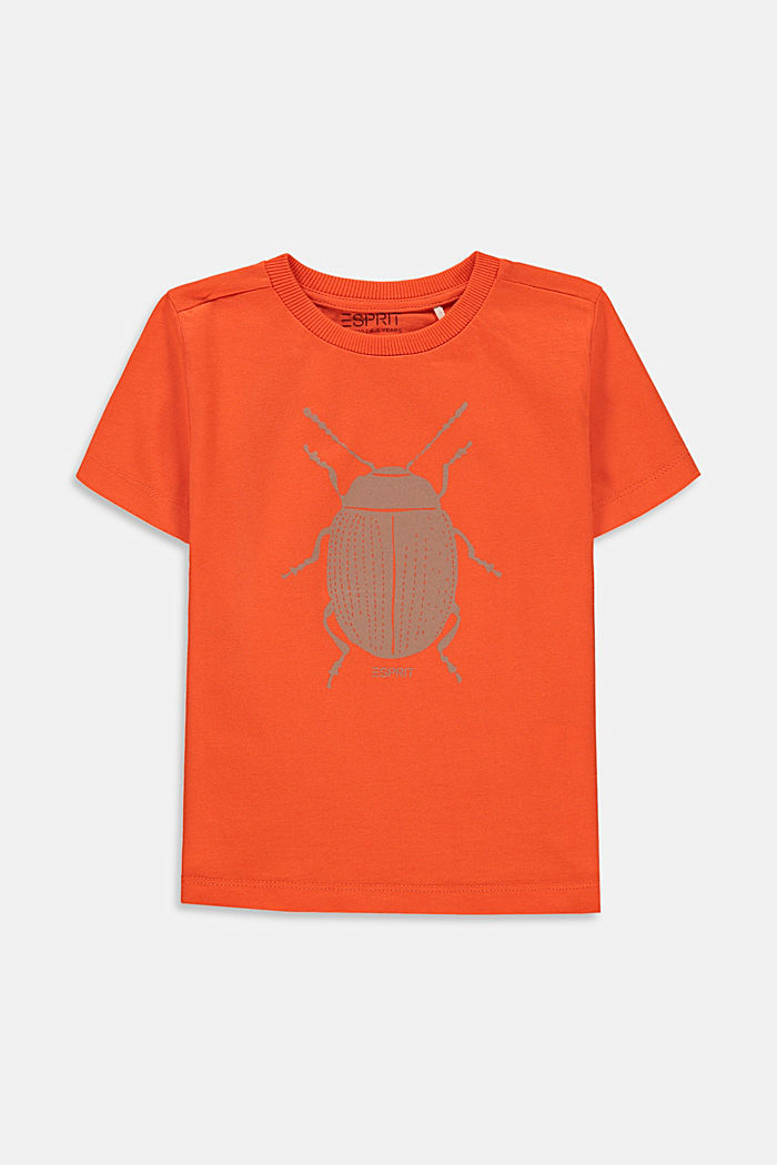 Camiseta con estampado de mariquitas, 100% algodón, RED ORANGE, detail image number 0