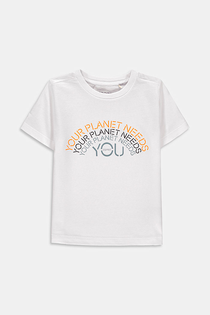 Print T-shirt in 100% cotton, WHITE, detail image number 0