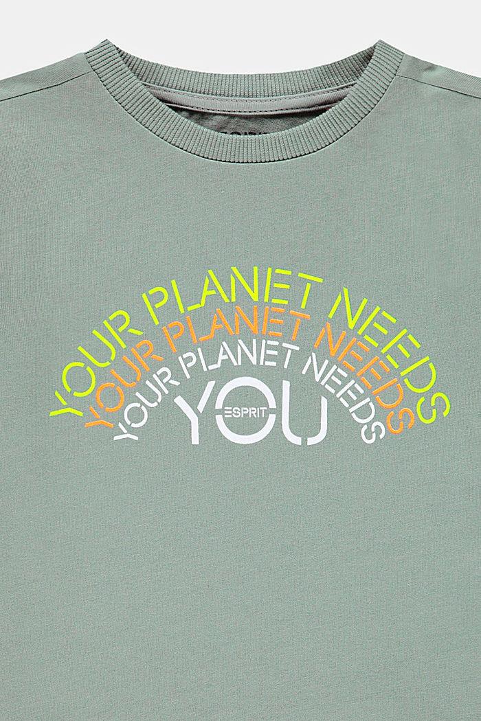 Print-T-Shirt aus 100% Baumwolle, LIGHT KHAKI, detail image number 2