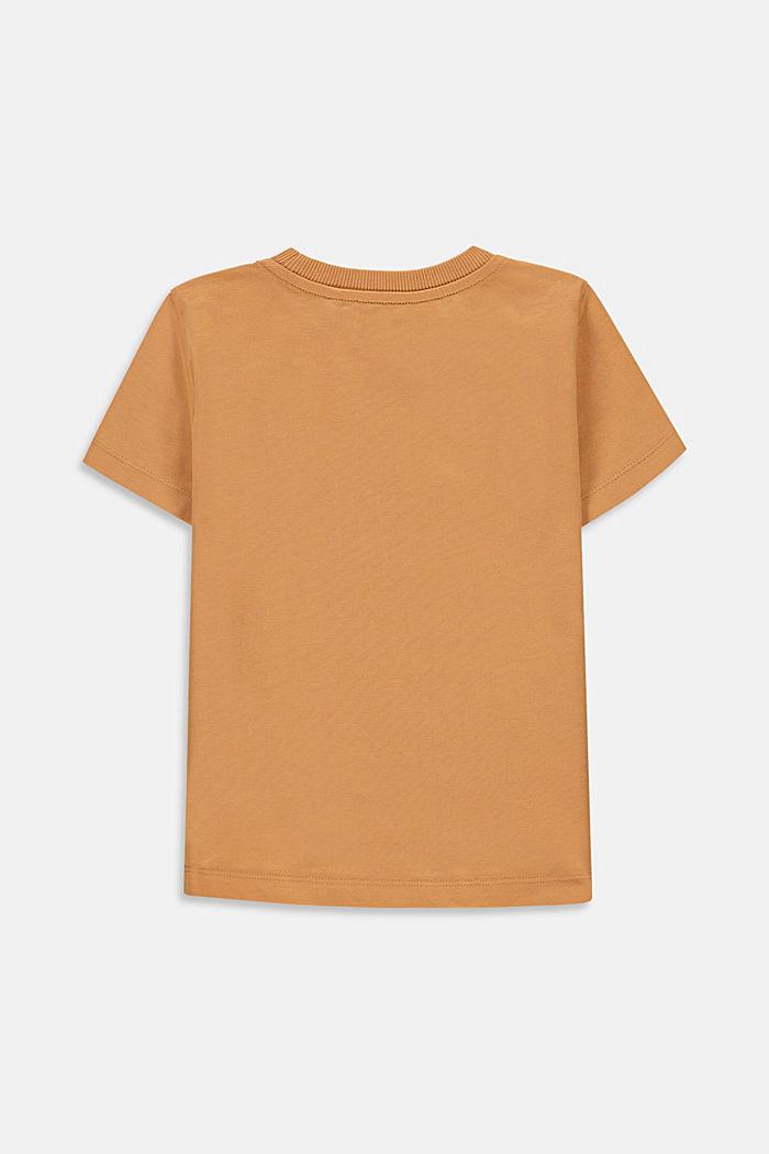 Printed T-shirt, 100% cotton, CARAMEL, detail image number 1