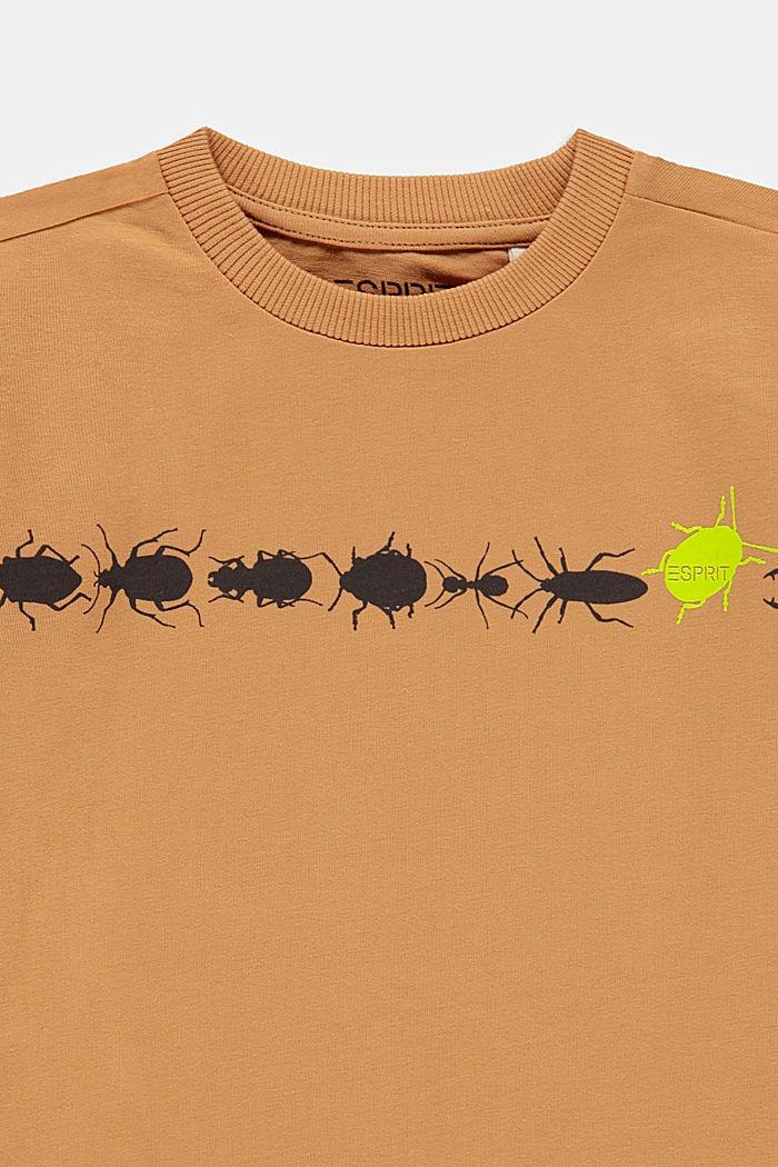 Printed T-shirt, 100% cotton, CARAMEL, detail image number 2