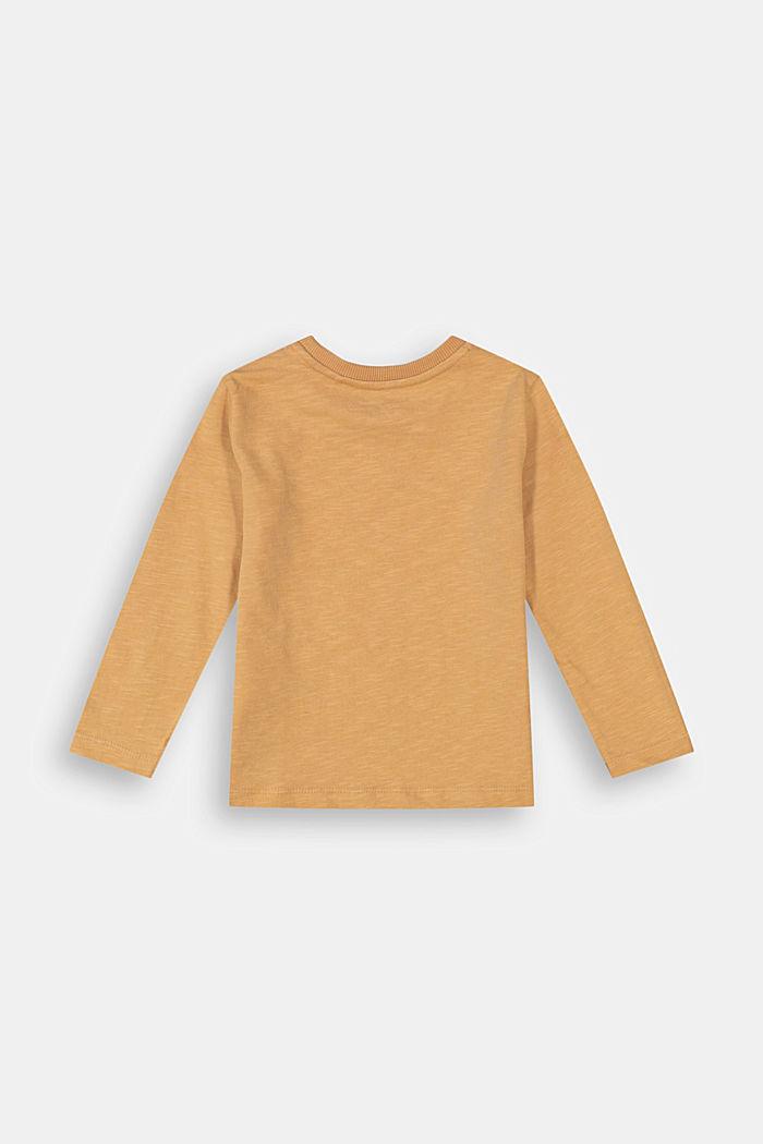 Triko s potiskem, dlouhý rukáv, 100% bavlna, CARAMEL, detail image number 1