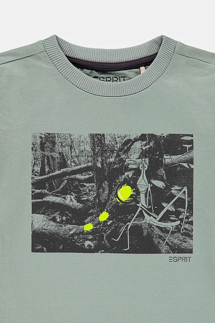 Printed T-shirt made of 100% cotton, LIGHT KHAKI, detail image number 2
