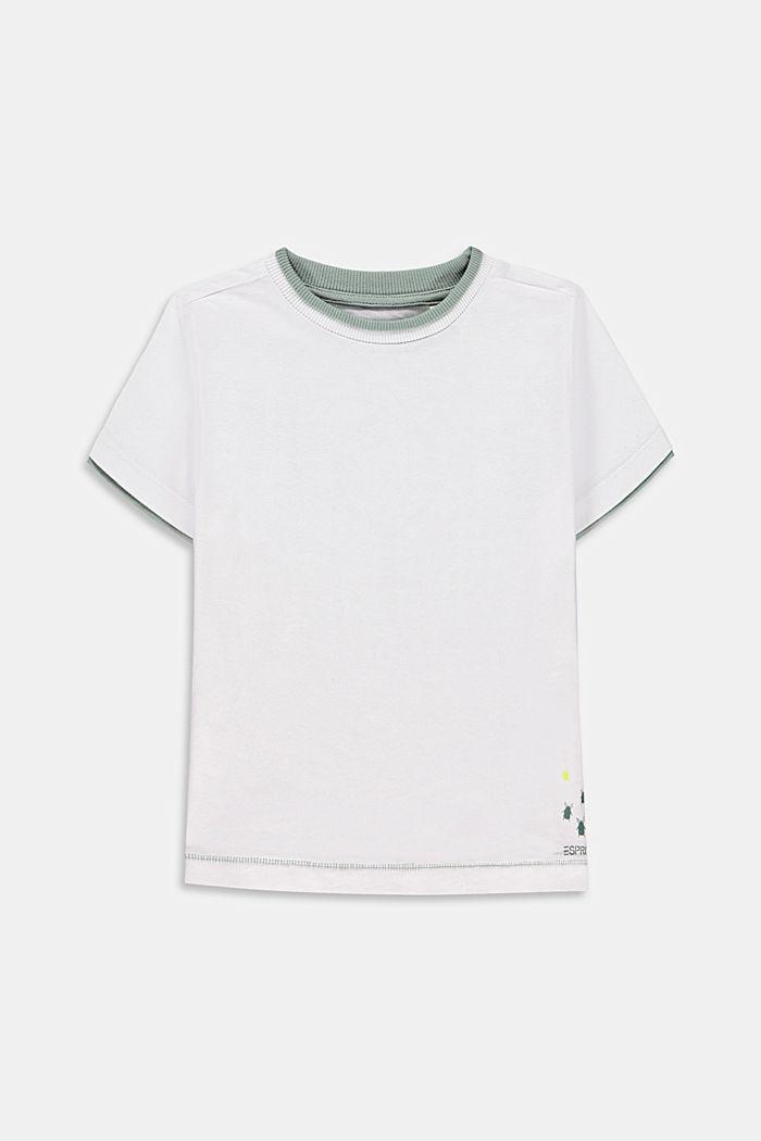 Camiseta con estampado en la espalda, WHITE, detail image number 0