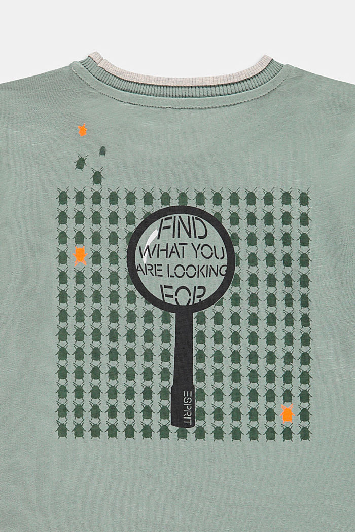 T-shirt with a printed back, LIGHT KHAKI, detail image number 2