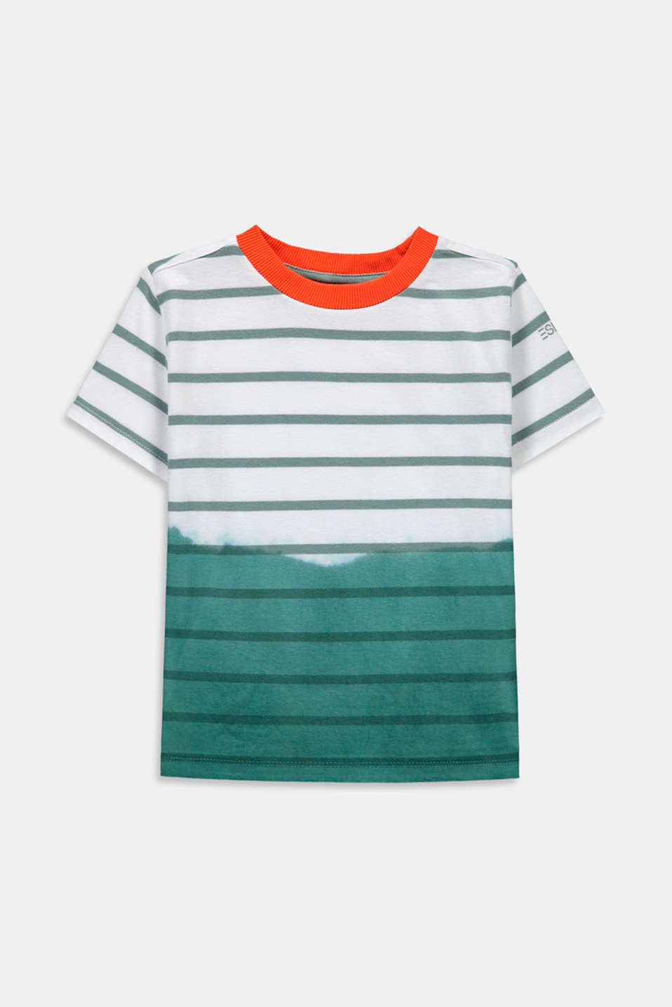 Esprit - Gestreept T-shirt in een dip-dyed-look