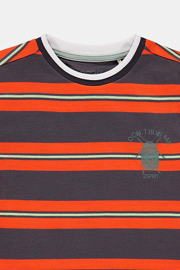 Gestreiftes T-Shirt mit Käfer-Print, DARK GREY, detail image number 2
