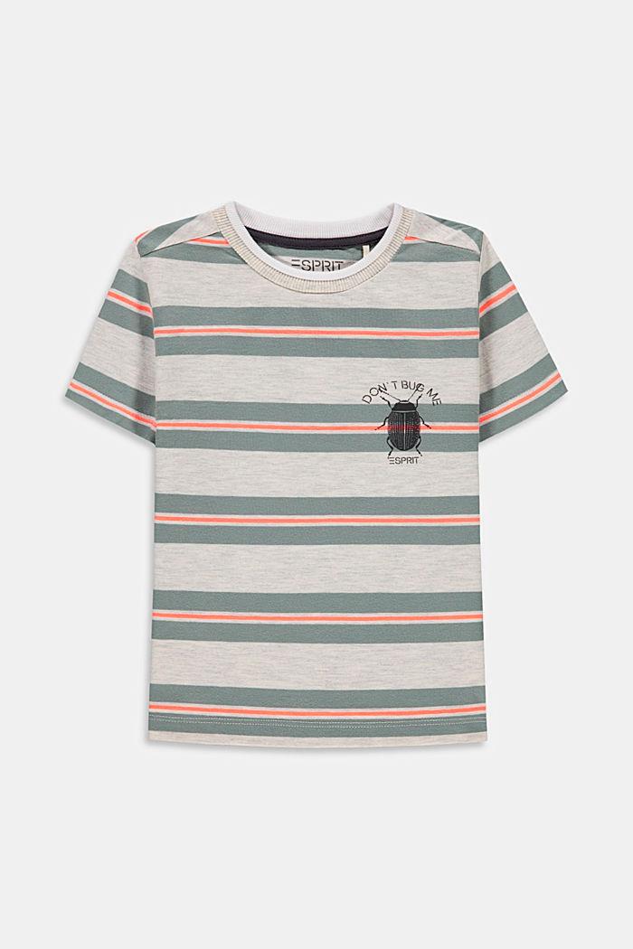 Camiseta de rayas con estampado de mariquitas, SILVER, detail image number 0